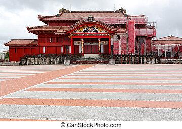 shuri, 城堡, 在, okinawa, 日本