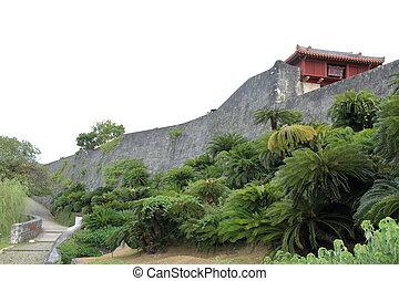 Shuri castle in Naha, Okinawa, Japan
