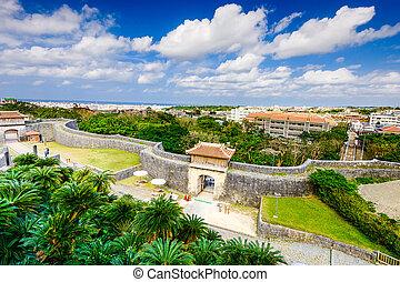 Shuri Castle in Okinawa - Naha, Okinawa, Japan at the outer ...