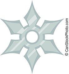 Shuriken weapon icon isolated - Shuriken weapon icon flat...