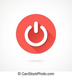 Shut down icon. Vector round icon - Shut down icon. Vector...
