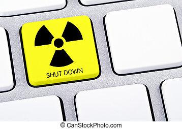 Key on keyboard for shut down nuclear energy