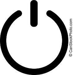 shut down symbol. Switch off simple symbol - shut down...