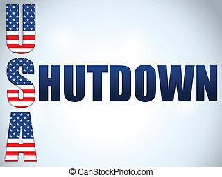 Shutdown Closed United States of America Background