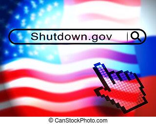 shutdown, governo, senado, meios, fechado, presidente, américa, ponteiro, ou