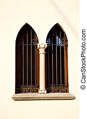 shutter europe italy lombardy in the milano old window church abstract grate