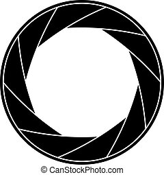 Shutter frame - Black and white vector illustration of ...