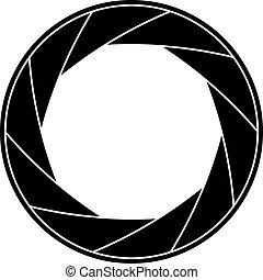 Shutter frame - Black and white vector illustration of...