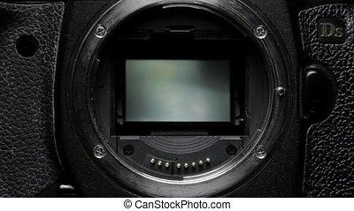 Shutter Mechanism Dslr Camera with Mirror.