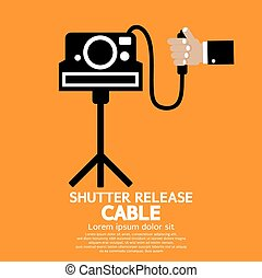 Shutter Release Cable Illustration.