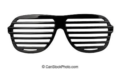 Shutter shades - Black plastic shutter shades sunglasses...