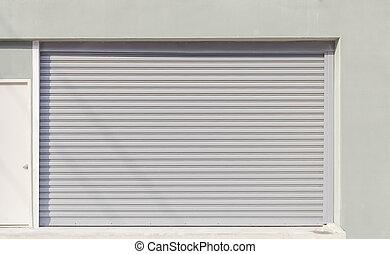 shutterdoor - Shutter door or rolling door (gray color) day...