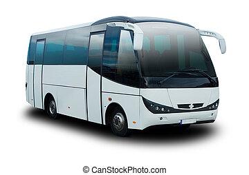 Shuttle Bus - Airoirt Shuttle Bus Isolated on White