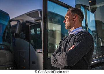 Shuttle Buses Public Transportation Company Owner Staying ...