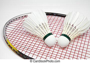 badminton - shuttlecock and racket for play badminton