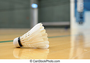 Shuttlecock - Close up of shuttlecock in badminton game