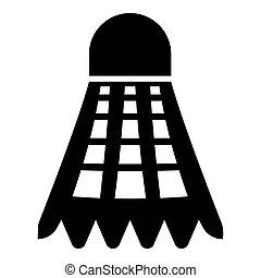 Shuttlecock icon black color illustration flat style simple image