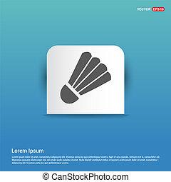 Shuttlecock Icon - Blue Sticker button