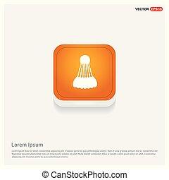 Shuttlecock Icon Orange Abstract Web Button