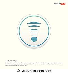 Shuttlecock Icon - white circle button