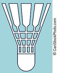 Shuttlecock - Illustration of the badminton shuttlecock icon