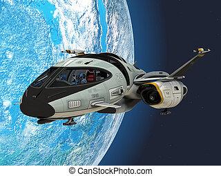 shuttlestar, terra, orbita