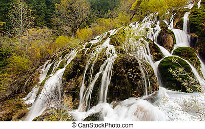Shuzheng Waterfall in Jiuzhaigou