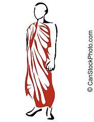 shwedagon, 修道士