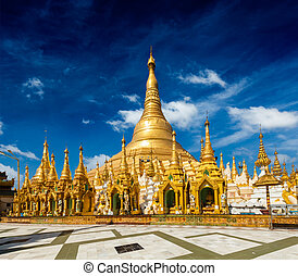 Shwedagon pagoda - Myanmer famous sacred place and tourist...