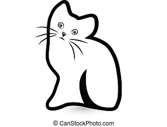Shy cat logo