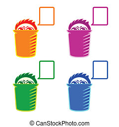 Shy Recycle bin - Colorful Recycle bin or hidden spy with...