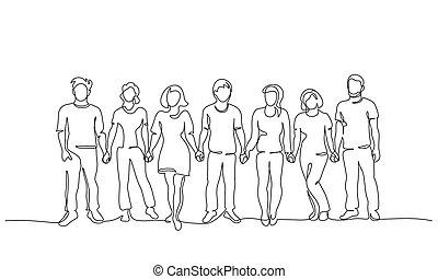 siła robocza, ludzie, teamwork, pojęcie, grupa, razem., handlowy, dzierżawa