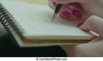 siła robocza, notatnik, samica, pisanie
