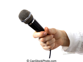 siła robocza, samicza ręka, mikrofon