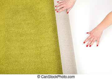 siła robocza, unrolling, samica, dywan