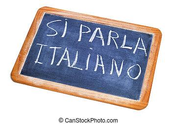 si, parla, italiano, italiano, es, hablado