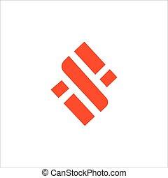 si, plantilla, diseño, logotipo, inicial, o, carta, vector