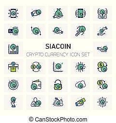 SIACoin Crypto icons set