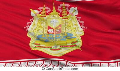 Siamese Army King Rama V Chudhadhujdhippatai Flag Closeup...