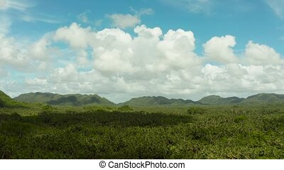 Siargao island with hills and mountains, Philippines. -...