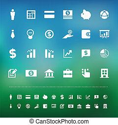 siatkówka, komplet, finanse, handlowy, ikona