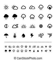 siatkówka, pogoda, komplet, ikona