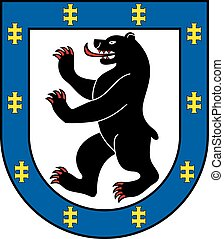 Siauliai dist coa - Various vector flags, state symbols,...