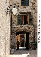 Sibenik cityscape - Walking old streets of Sibenik, Croatia