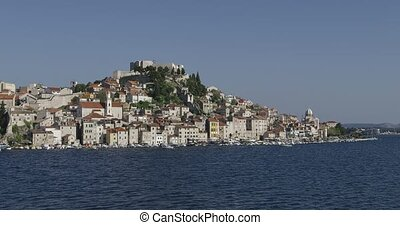 Sibenik coastal view - Coastal view of the old city center...
