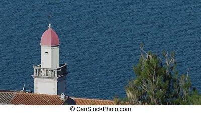 Sibenik old church beltower - Old church beltower against...