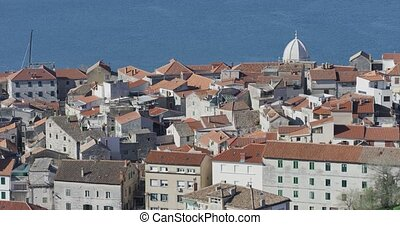 Sibenik old city - Sibenik panorama of the old city against...