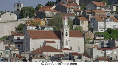 Sibenik old houses - Old houses by the sea in city Sibenik...