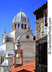 sibenik, s., croacia, james's, catedral