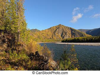 Siberian autumn landscape